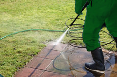 pressure washing demo